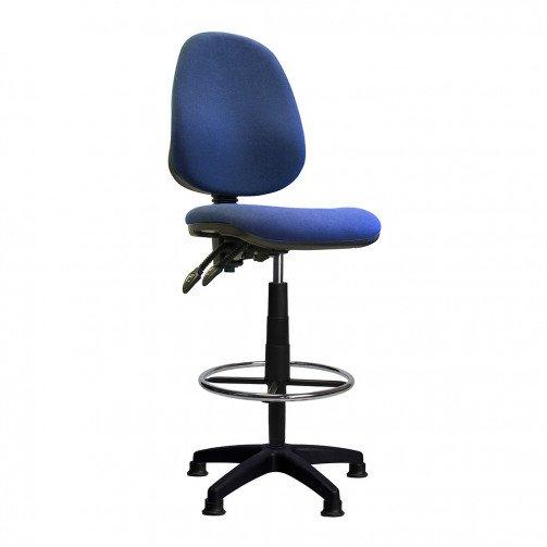 Nile-D Blue - High Back Draughtsman Chair  Blue