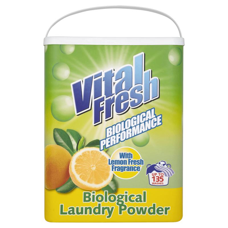 Vital Fresh Biological Washing Powder Lemon 135 Wash