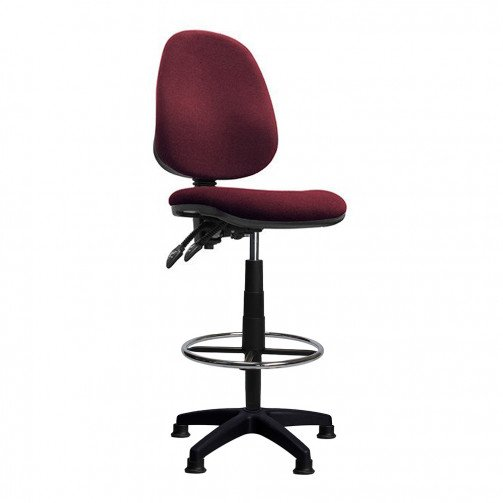 Nile-D Red - High Back Draughtsman Chair  Red
