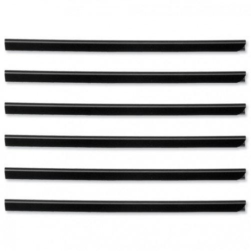 Durable Spine Bar 6mm Black Pk50 2931/01