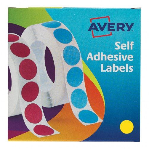 Avery Labels on Roll 19mm Yellow 24-508