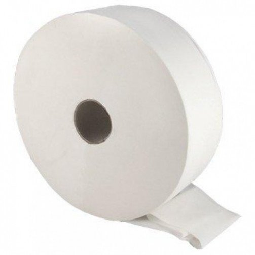 Maxi Jumbo Toilet Roll - 300M Recycled 2.25 inch (60mm) Core x 6 Rolls