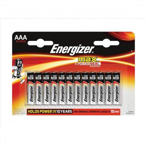 Energizer Max AAA/E92 Batteries PK12