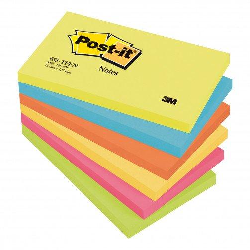 Postit Energ Colours 3x5 Pk6 655TF
