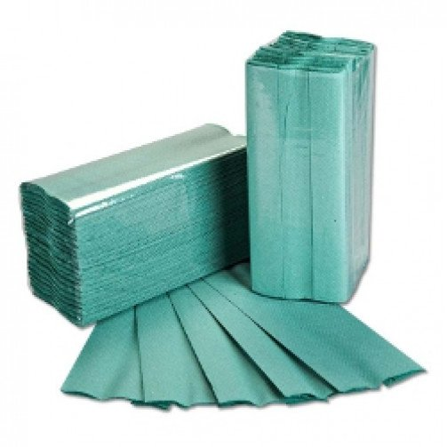 C-Fold Hand Towels Green 1ply 2520 Pallet x 48 PD100