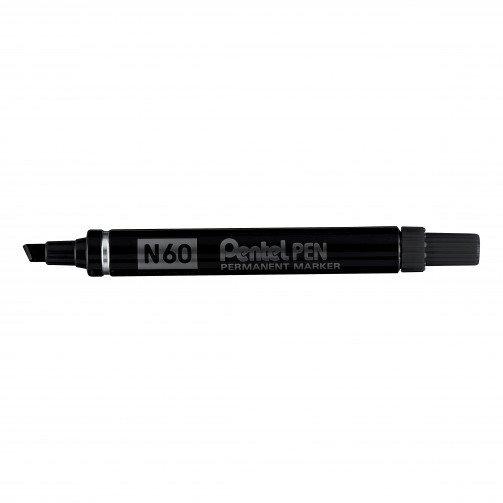 Pentel N60 Perm Marker Chisel Black N60A