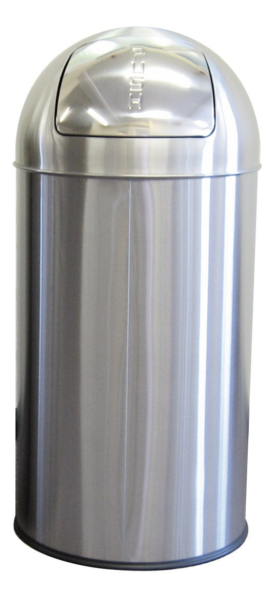 Push Bin 50 Litre Stainless Steel Janitorial Direct Ltd