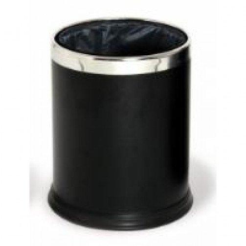 Round Waste Basket 10L Powder Coated Black