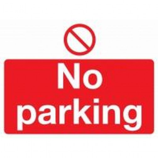 "Self Adhesive Safety Sign ""No parking"""