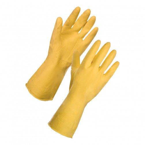 Yellow Rubber Gloves Medium Pair 13342