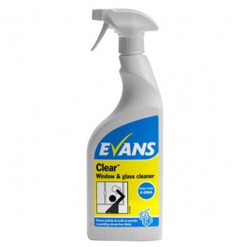 """Evans """"Clear"""" Glass Cleaner 750ml EVE009"""