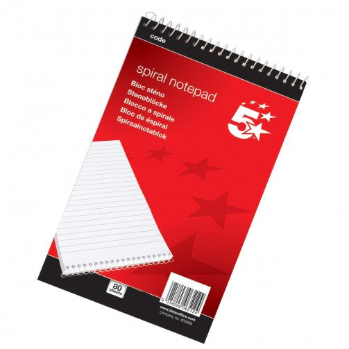 5 Star Shorthand Pad A5 Ruled 200 Pages