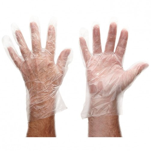 Clear Disposable Polythene Gloves x 100
