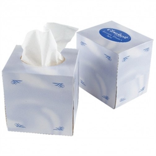 White Facial Tissues Cube 70 Sheet
