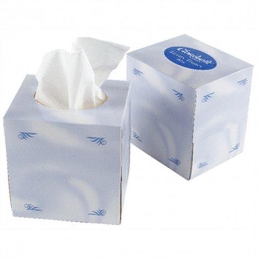 White Facial Tissues Cube x 24