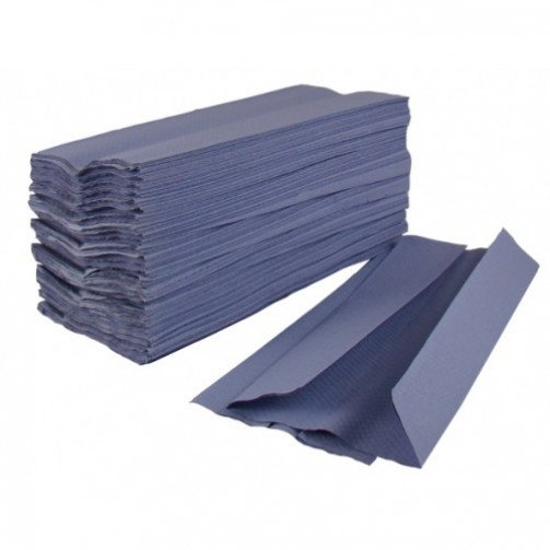 C-Fold Hand Towels Blue 1ply 2520 Pallet x 48 PD102