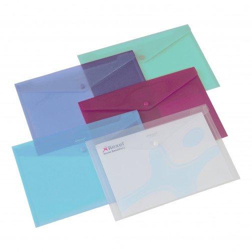 Rexel Popper Wallet A4 Asst Pk6 16129AS