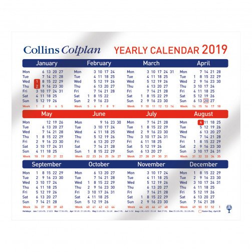 Collins Yearly Calendar 2019 CDS1