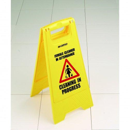 Wet Floor Sign Male/Female Attendance x 5