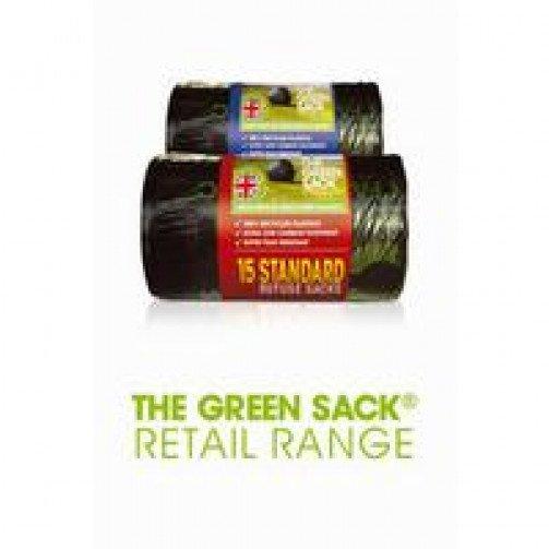 360 Recycled Black Sacks On Rolls