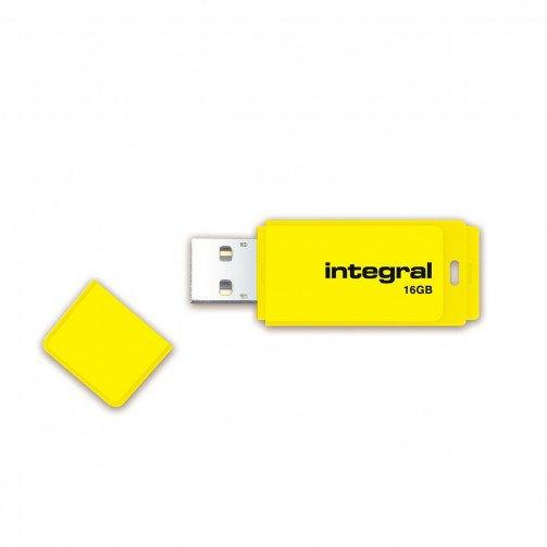 Integral Neon USB Drive 2.0 16GB Yellow