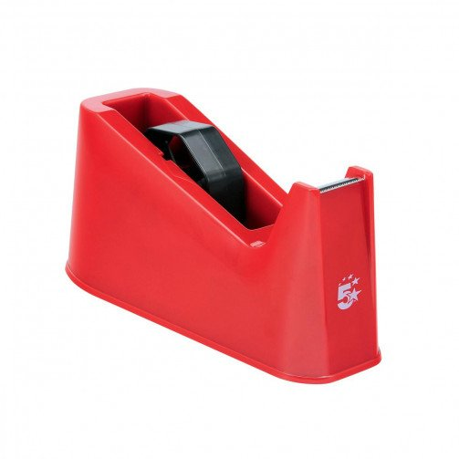 5 Star Desk Tape Dispenser Red