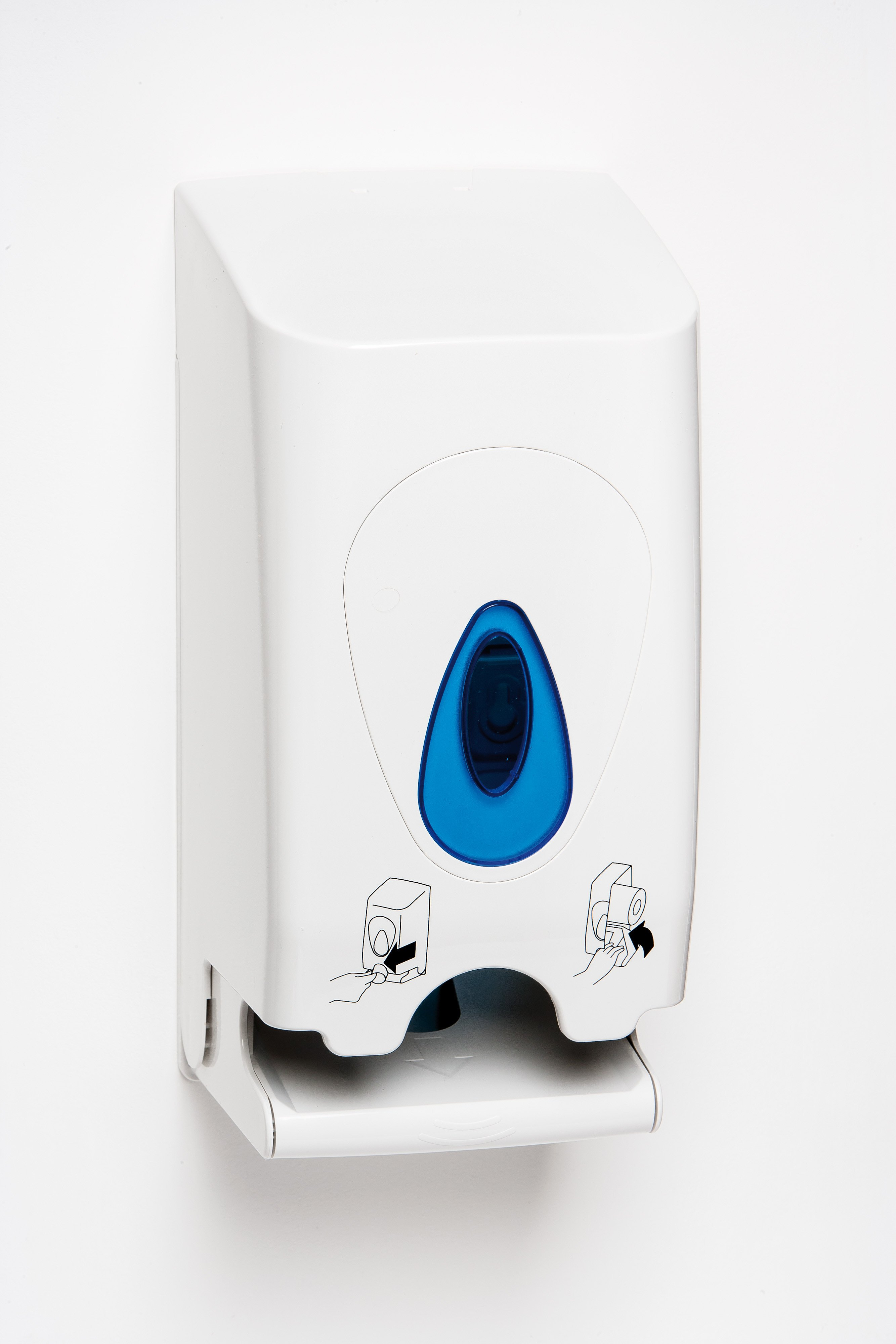 Modular Twin Toilet Roll Plastic Dispenser Janitorial