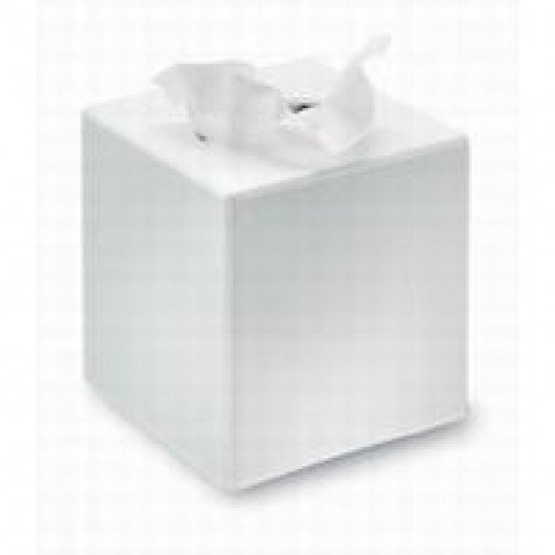 White Cube Tissue Dispenser