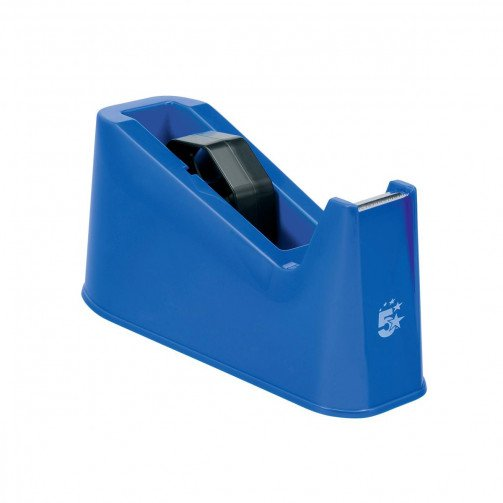5 Star Desk Tape Dispenser Blue