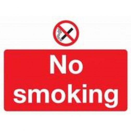 No Smoking Sign Self Adhesive Rectangular