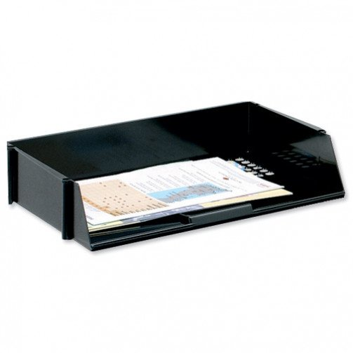 5 Star Wide Entry Letter Tray Black