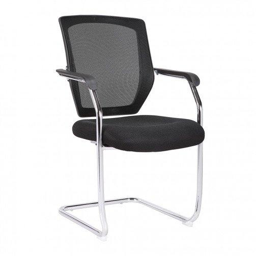 Columbia Black - Medium Back Mesh Cantilever Chair  Black
