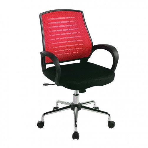 Volga Raspberry - Mesh Back Operator'S Chair  Raspberry