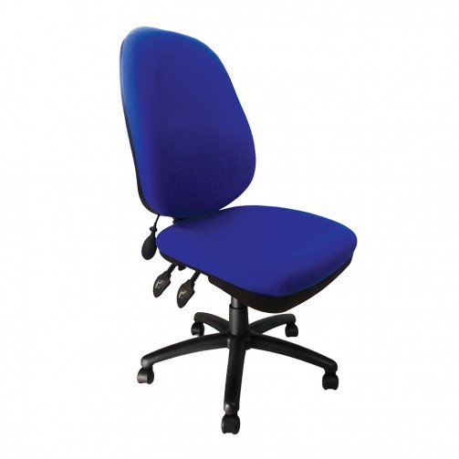 Amazon Blue - Pump Up Lumbar Operator Chair Blue