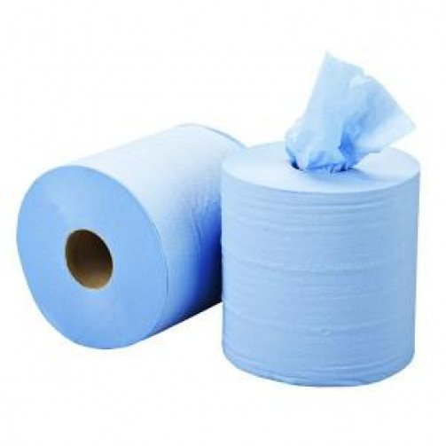 Blue Roll Centrefeed 2ply - 400 Sheet x 6