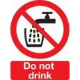 "Self Adhesive Sign ""Do Not Drink"""
