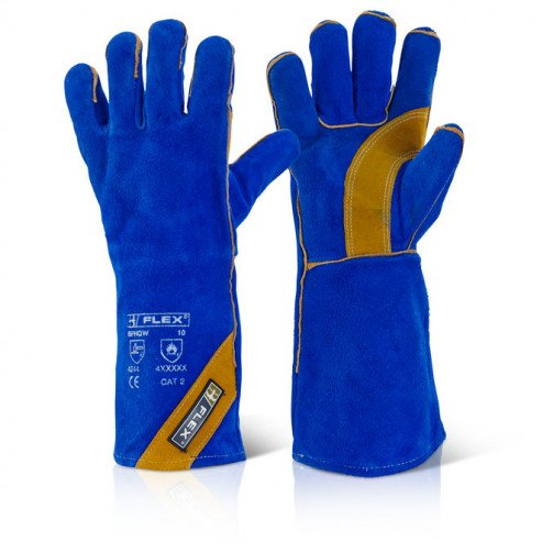 Welders Gauntlet Blue/Gold Size 10