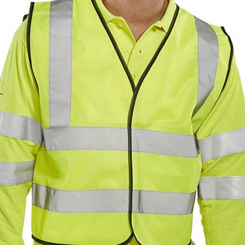 )Bseen Hi Vis Waistcoat Yellow L