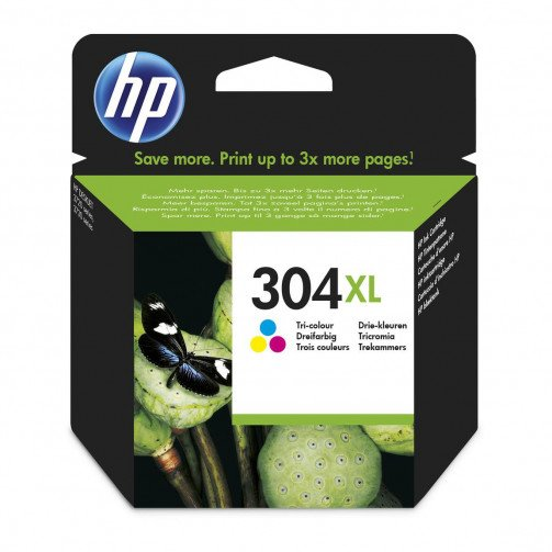 HP 304XL HY Ink Cart Tri-Colour N9K07AE