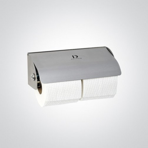 Dual Stainless Steel Dolphin Toilet Roll Dispenser