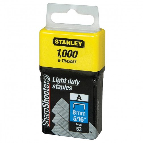 Stanley Light Duty Staples 8mm Pk1000