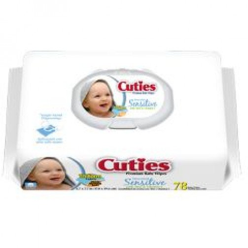Cuties Sensitive Baby Wipes x 12