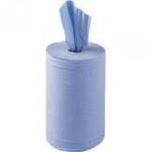 Roll Towels 1ply Blue x 6 rolls