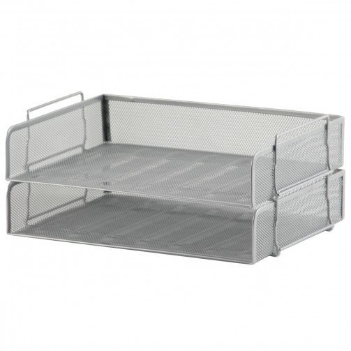 5 Star Office Wire Mesh Side Tray Silver