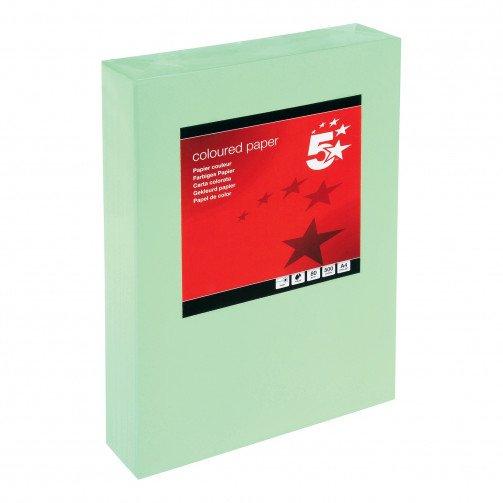 5 Star Tint A4 80g Med Green Pk500