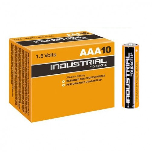 Batteries Duracell Industrial  ' AAA '  x pack of 10