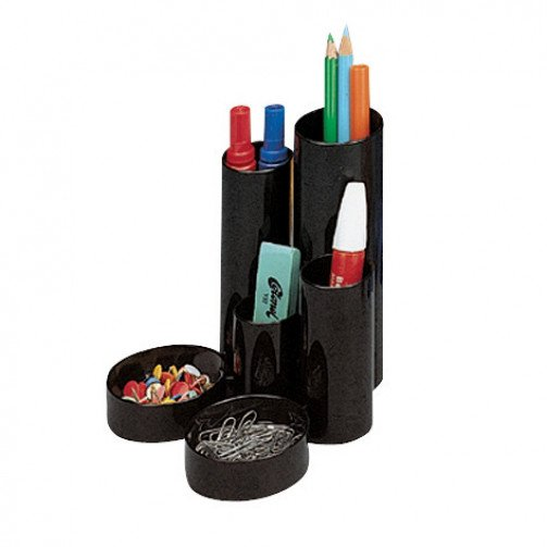 Desk Tidy 6 Compartments Black