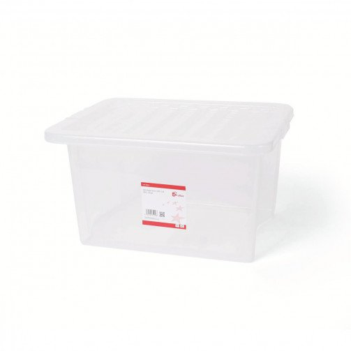 5 Star Storage Box 35L Clear