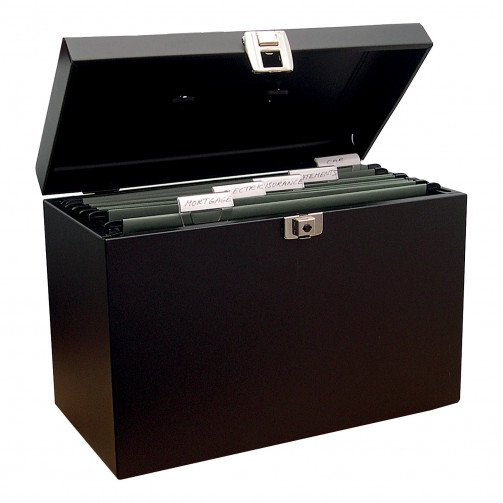 Metal File Box A4 Black
