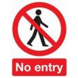 "Self Adhesive Safety Sign ""No entry"""